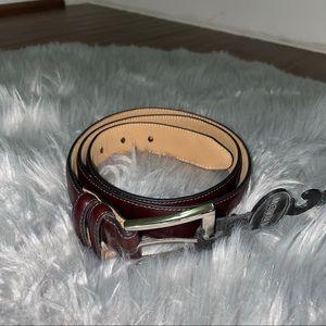 NWT Merona Brown Leather Belt Size Medium